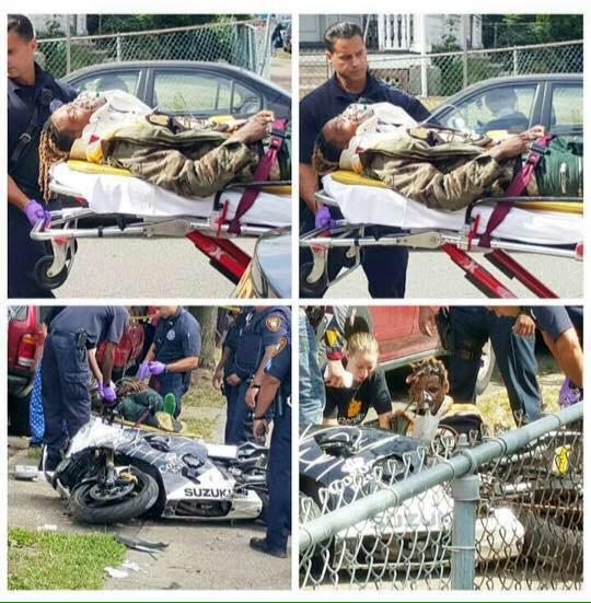 These are sevetal pictures from the scene of the accident courtesy of hiphopsince1987.com.